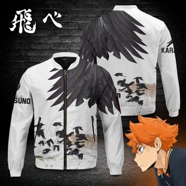 karasuno crows bomber jacket 362721 - Anime Jacket
