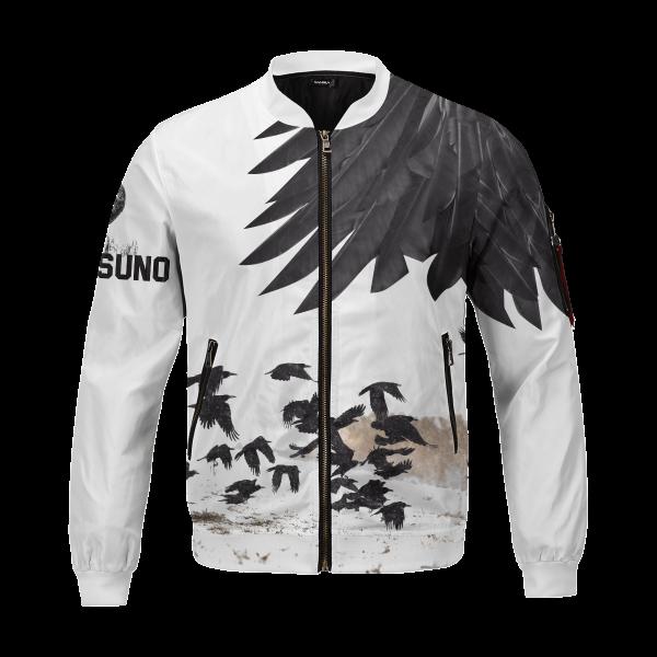 karasuno crows bomber jacket 526073 - Anime Jacket