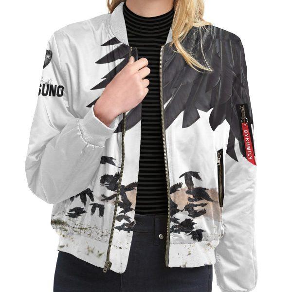 karasuno crows bomber jacket 993680 - Anime Jacket