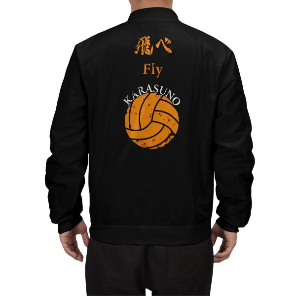 karasuno rally bomber jacket 123994 - Anime Jacket