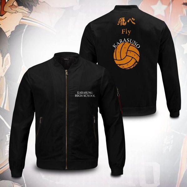 karasuno rally bomber jacket 159507 - Anime Jacket