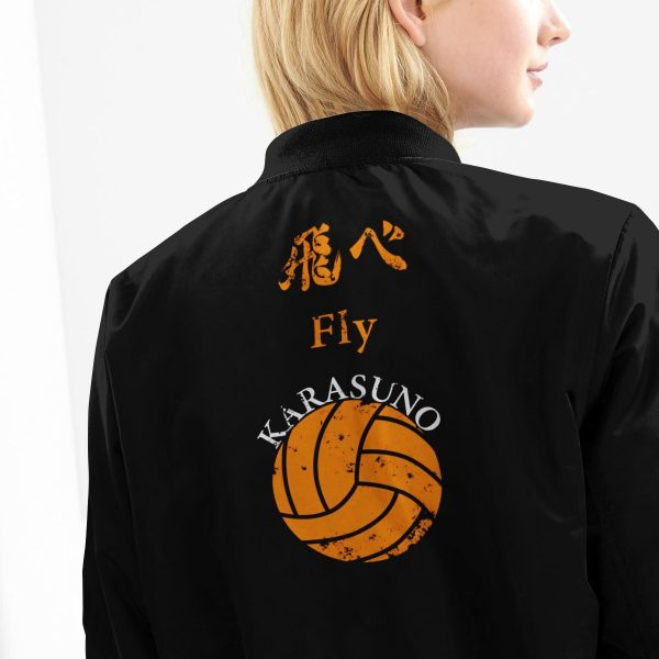 karasuno rally bomber jacket 211053 - Anime Jacket