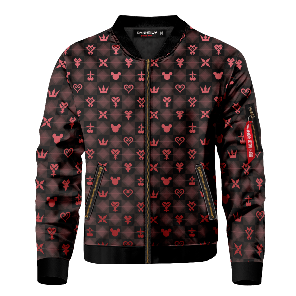 khearts pattern bomber jacket 288146 - Anime Jacket