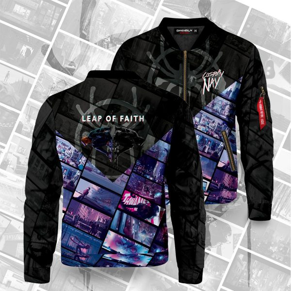 leap of faith signed bomber jacket 125776 - Anime Jacket