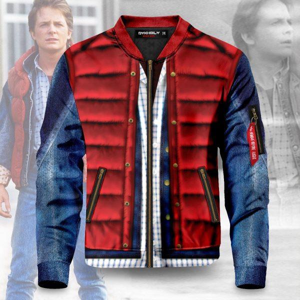 marty mcfly cel shaded bomber jacket 816850 - Anime Jacket