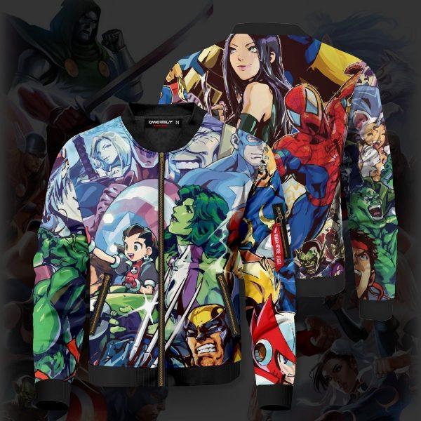 marvel vs capcom bomber jacket 554940 - Anime Jacket