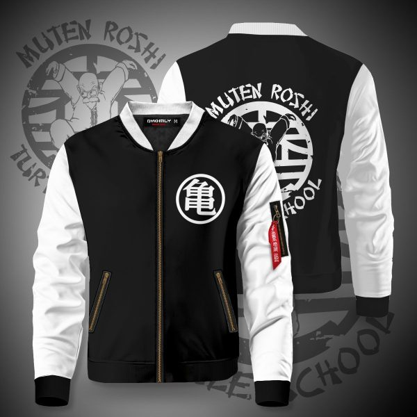master roshi turtle school bomber jacket 113180 - Anime Jacket