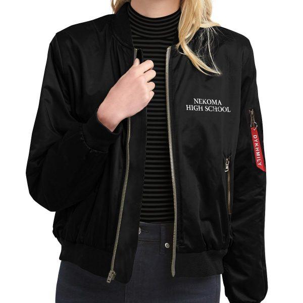 nekoma rally bomber jacket 262178 - Anime Jacket