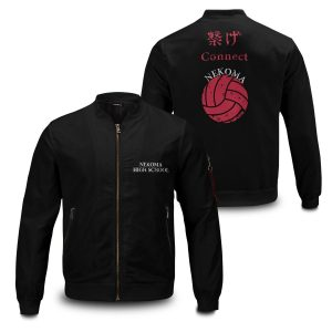 nekoma rally bomber jacket 287951 - Anime Jacket