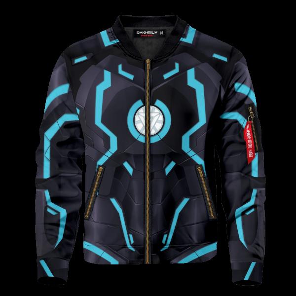 neon tech iron man bomber jacket 440026 - Anime Jacket