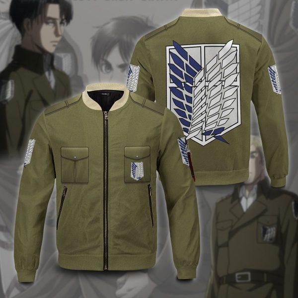 new survey corps uniform bomber jacket 156864 - Anime Jacket