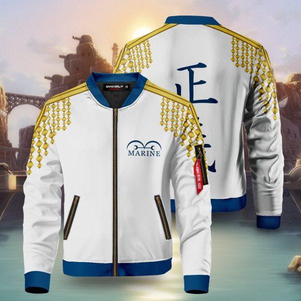 one piece marine bomber jacket 919938 - Anime Jacket