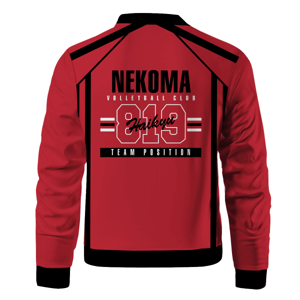 personalized 819 nekoma bomber jacket 146319 - Anime Jacket