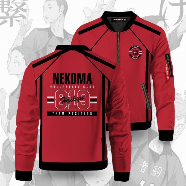 personalized 819 nekoma bomber jacket 839129 - Anime Jacket