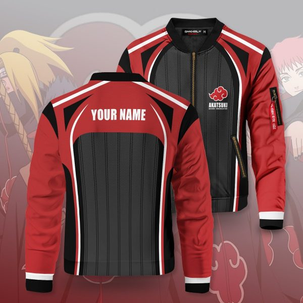 personalized akatsuki shinobi bomber jacket 762618 - Anime Jacket