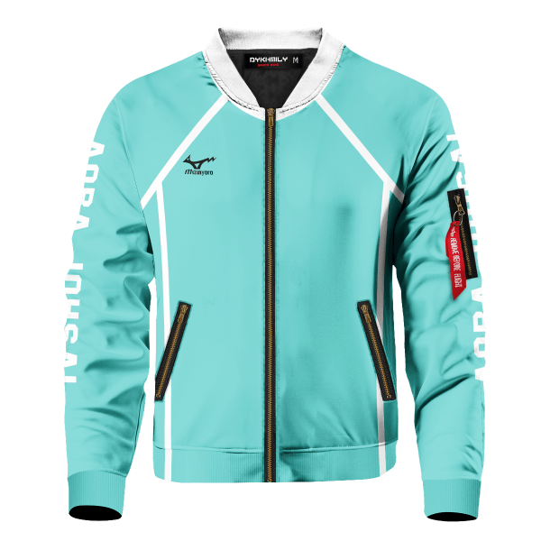 personalized aoba johsai libero bomber jacket 229412 - Anime Jacket