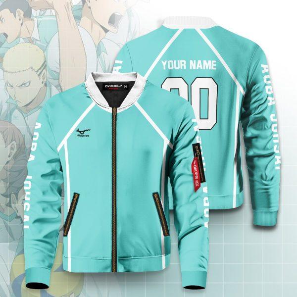 personalized aoba johsai libero bomber jacket 385685 - Anime Jacket