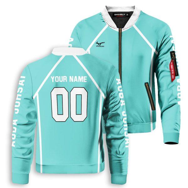 personalized aoba johsai libero bomber jacket 444117 - Anime Jacket