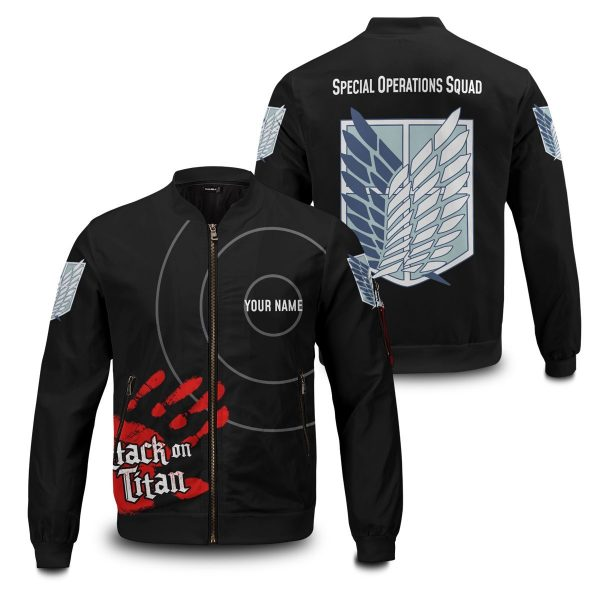 personalized aot skilled corps soldier bomber jacket 608877 - Anime Jacket