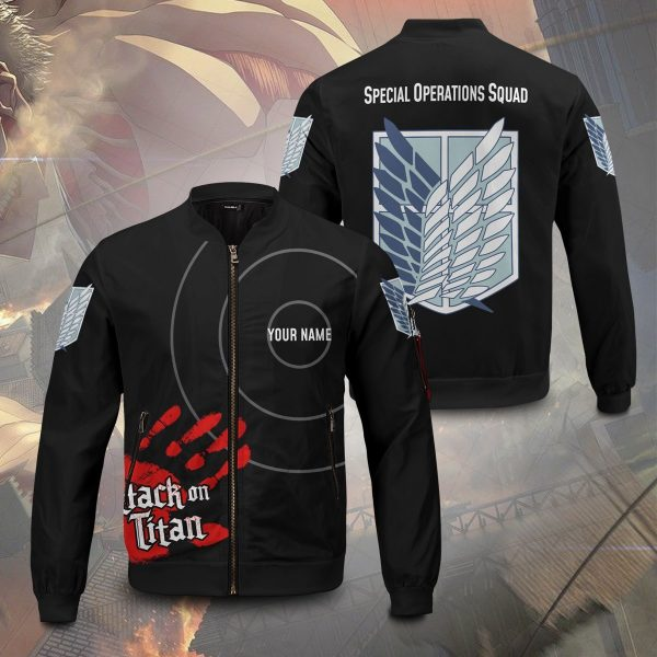 personalized aot skilled corps soldier bomber jacket 630430 - Anime Jacket