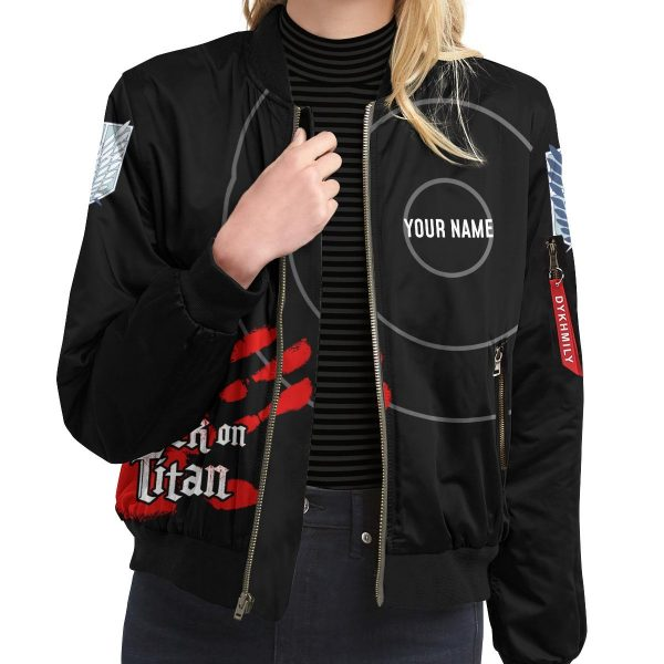 personalized aot skilled corps soldier bomber jacket 973487 - Anime Jacket