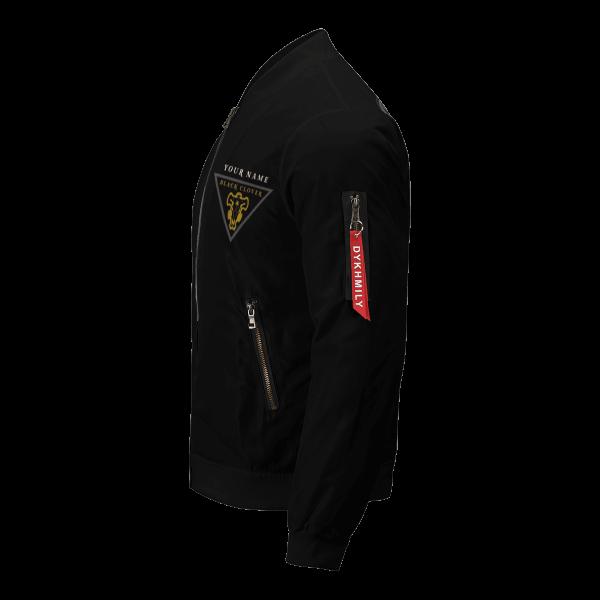 personalized black bull squad bomber jacket 111141 - Anime Jacket