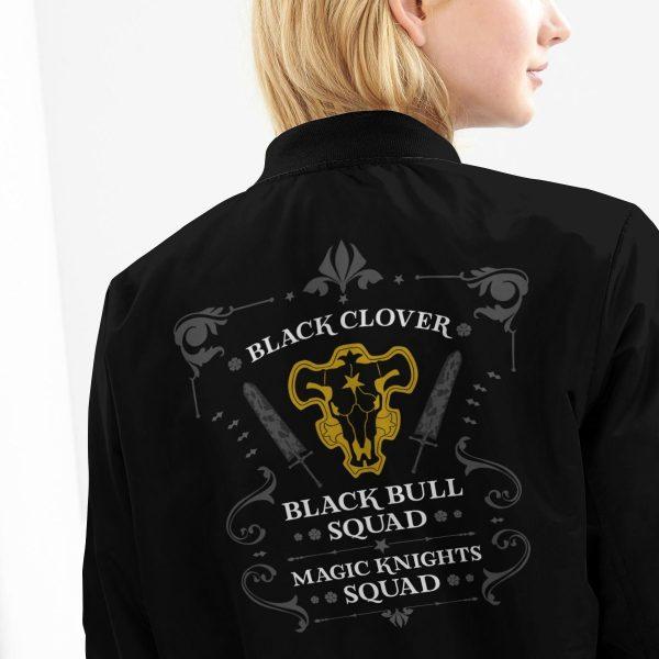 personalized black bull squad bomber jacket 218643 - Anime Jacket
