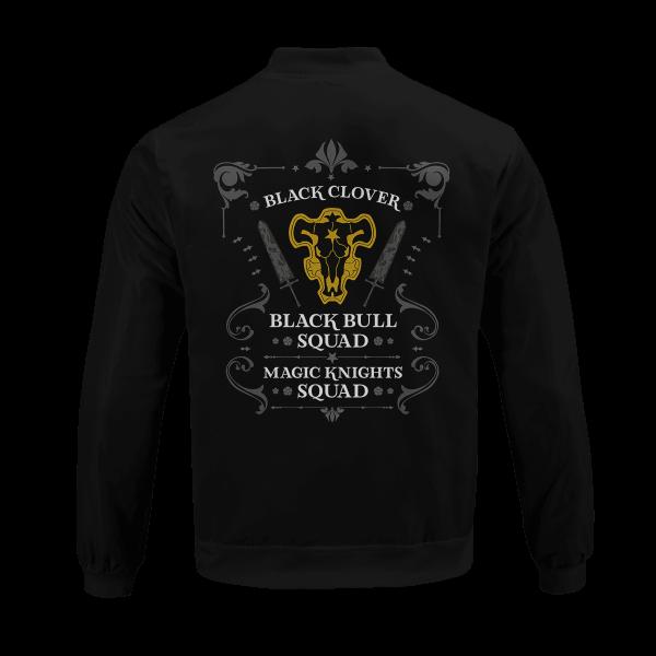 personalized black bull squad bomber jacket 284621 - Anime Jacket