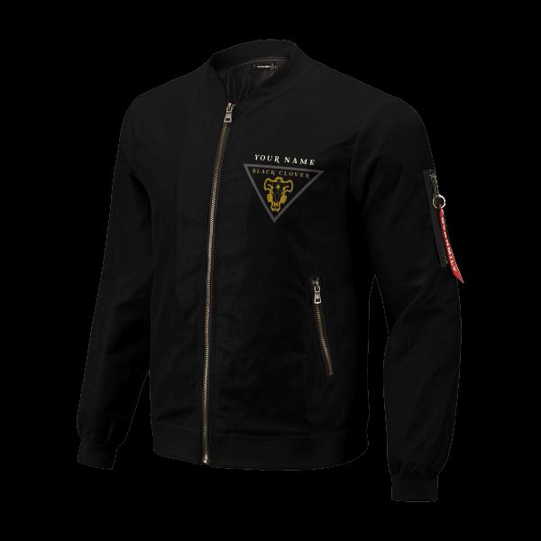 personalized black bull squad bomber jacket 446879 - Anime Jacket