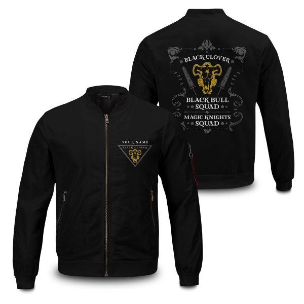 personalized black bull squad bomber jacket 558931 - Anime Jacket