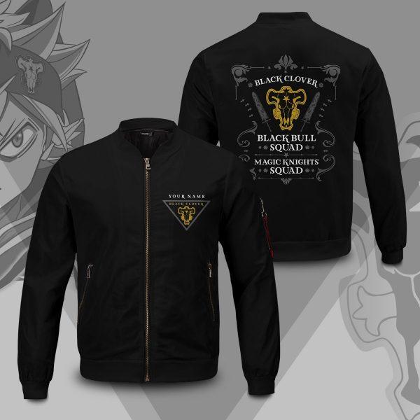 personalized black bull squad bomber jacket 686822 - Anime Jacket