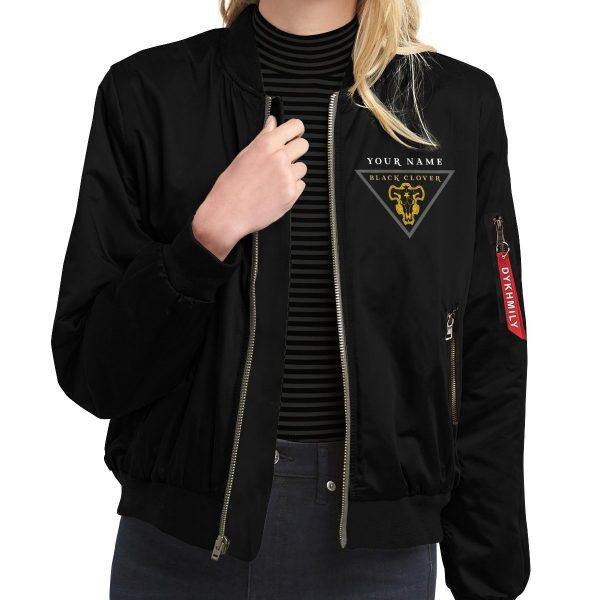personalized black bull squad bomber jacket 783092 - Anime Jacket