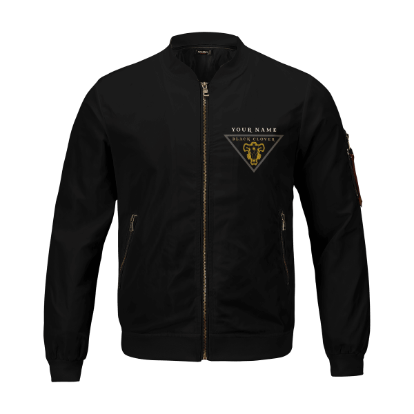 personalized black bull squad bomber jacket 800144 - Anime Jacket