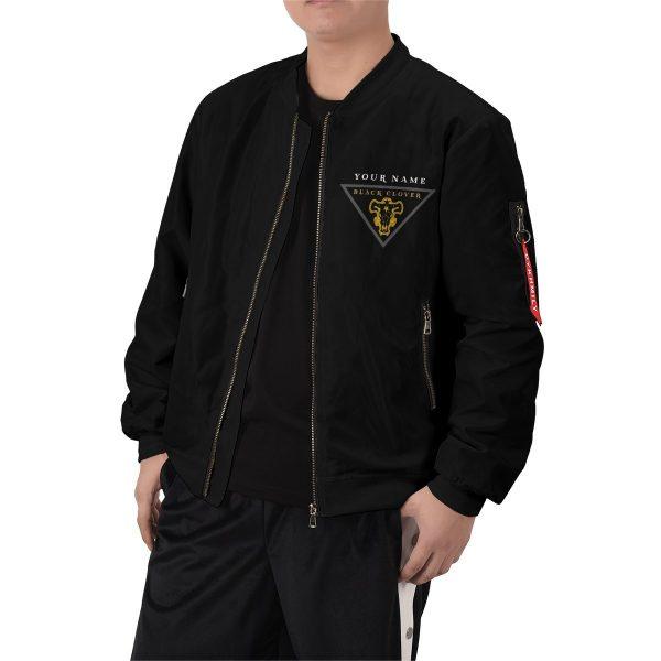 personalized black bull squad bomber jacket 914176 - Anime Jacket