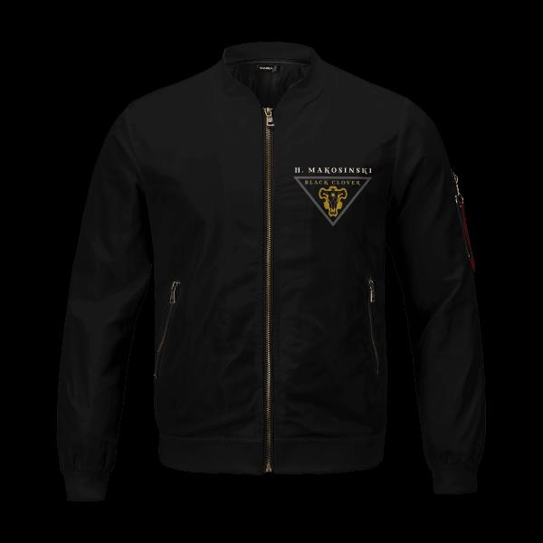 personalized black bull squad bomber jacket 942970 - Anime Jacket