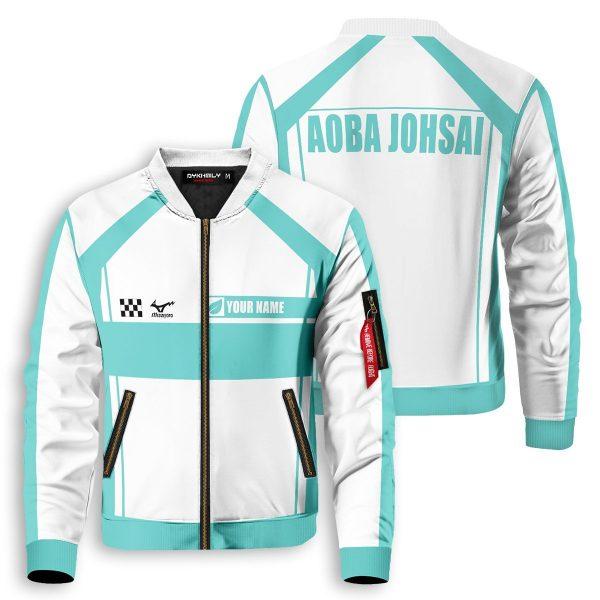 personalized f1 aoba johsai bomber jacket 710260 - Anime Jacket