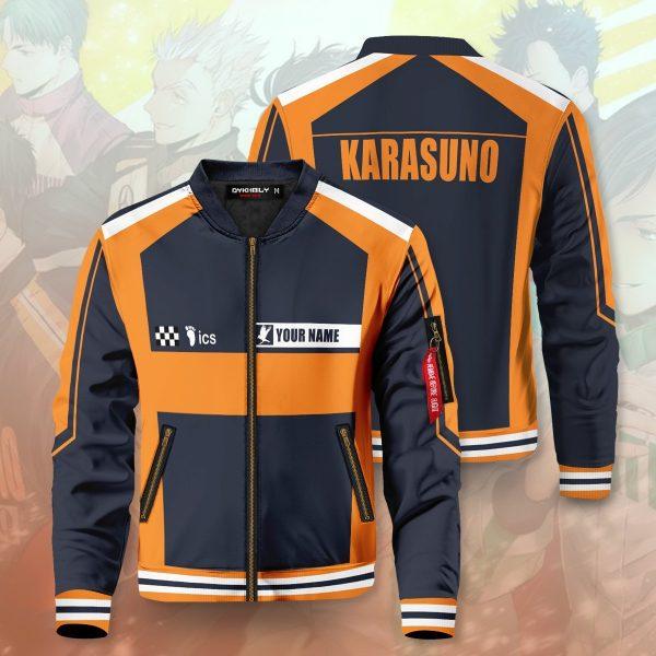 personalized f1 karasuno bomber jacket 694029 - Anime Jacket