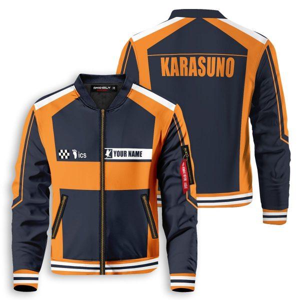 personalized f1 karasuno bomber jacket 867118 - Anime Jacket