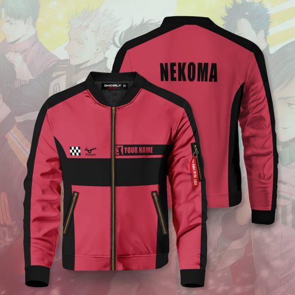 personalized f1 nekoma bomber jacket 613427 - Anime Jacket