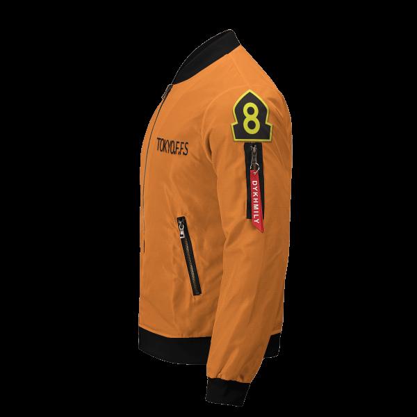 personalized fire force company 8 bomber jacket 341736 - Anime Jacket