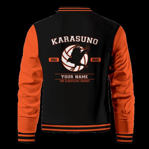 personalized flightless crows bomber jacket 389127 - Anime Jacket