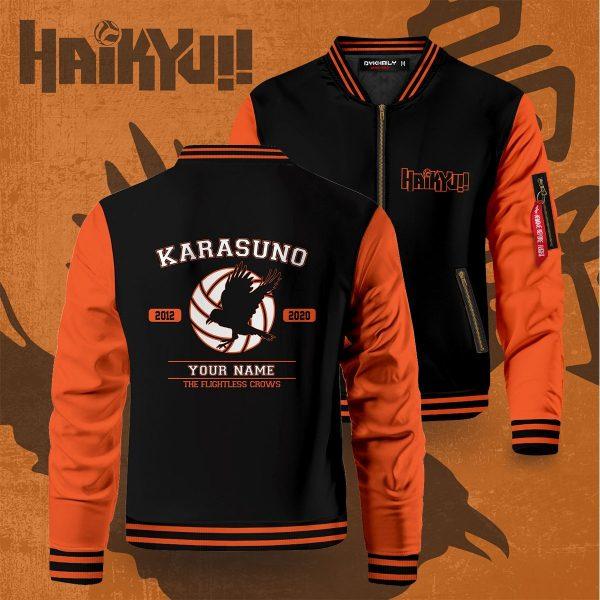 personalized flightless crows bomber jacket 450349 - Anime Jacket