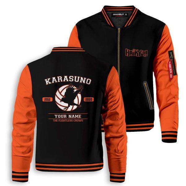personalized flightless crows bomber jacket 773575 - Anime Jacket