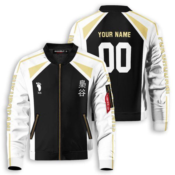 personalized fukurodani libero bomber jacket 992527 - Anime Jacket