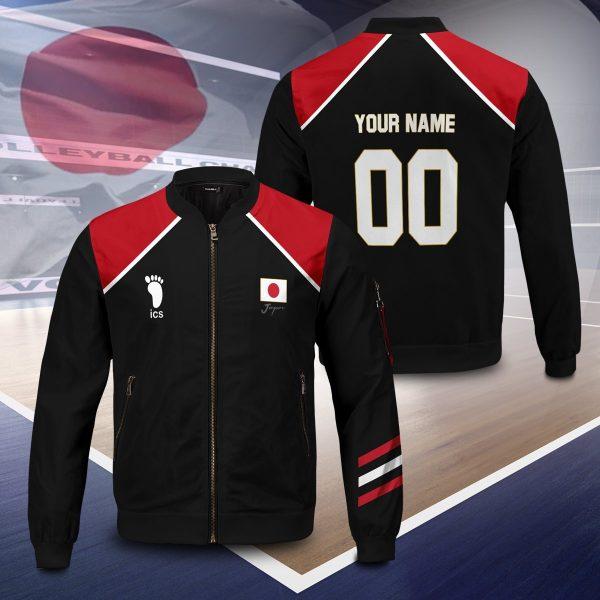 personalized haikyuu national team libero bomber jacket 231971 - Anime Jacket