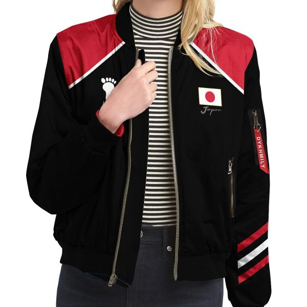 personalized haikyuu national team libero bomber jacket 525918 - Anime Jacket