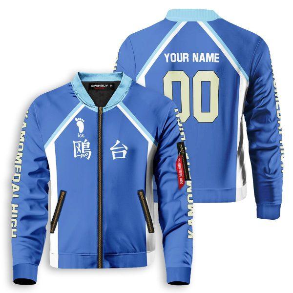 personalized kamomedai libero bomber jacket 123312 - Anime Jacket