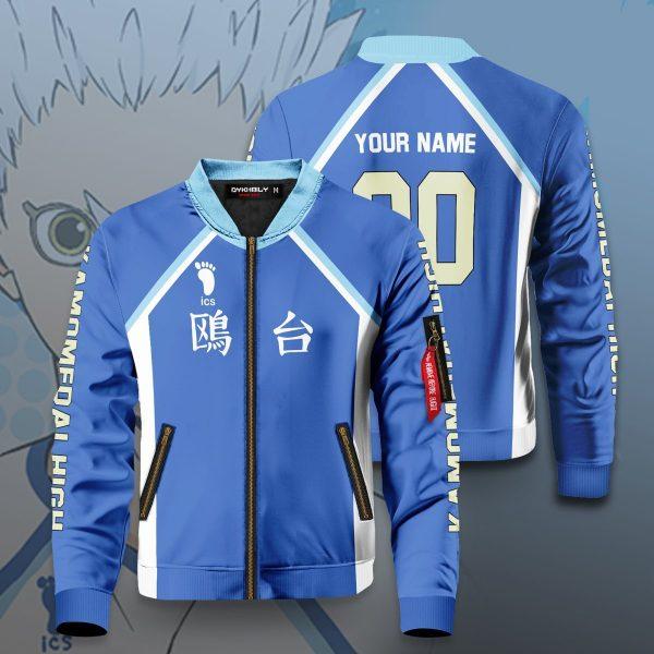 personalized kamomedai libero bomber jacket 140792 - Anime Jacket