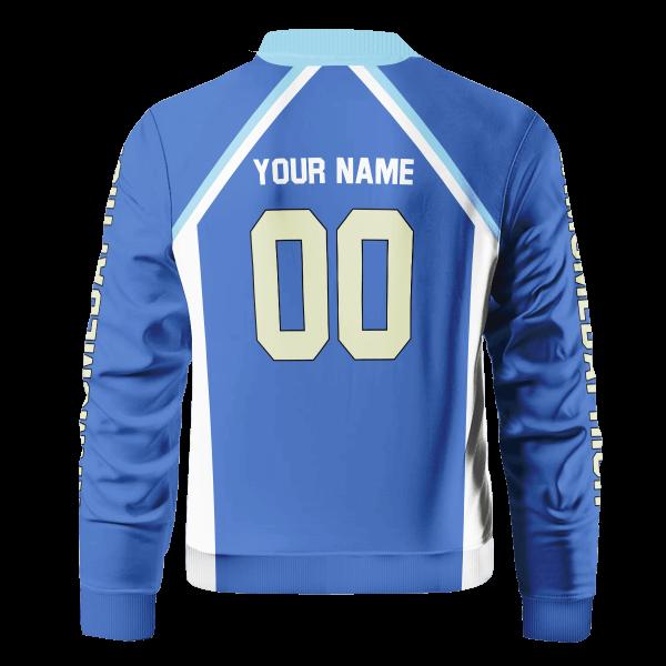 personalized kamomedai libero bomber jacket 265405 - Anime Jacket