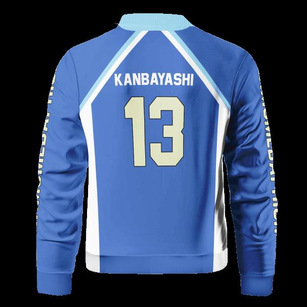 personalized kamomedai libero bomber jacket 600205 - Anime Jacket